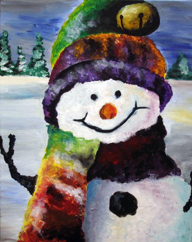Colorful Snow Man